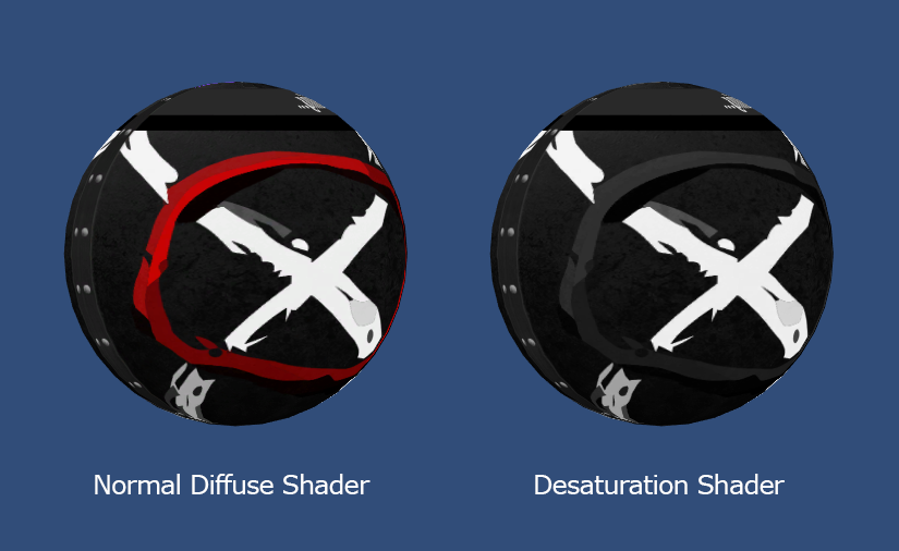 Unity 3D and Desaturation Shader